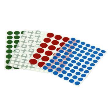 16mm圆点标签,每张40个标签,绿色,10张/包