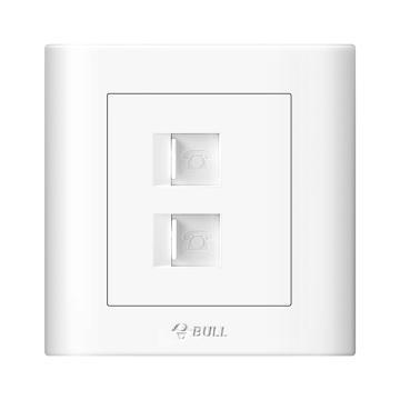 公牛/BULL 开关面板二位电话插座86型白色暗装二位电话,GN-G32T211