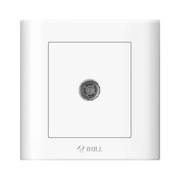 公牛/BULL 开关面板一位电视插座75Ω86型白色暗装一位电视,GN-G32T103