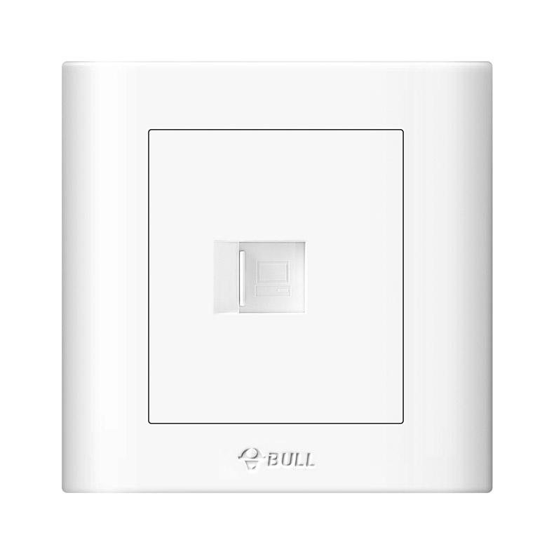 公牛/BULL 开关面板一位电脑插座86型白色暗装一位电脑,GN-G32T102