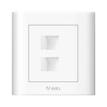 公牛/BULL 开关面板二位电脑插座(打线型/六类)86型白色暗装二位电脑,GN-G32T222B