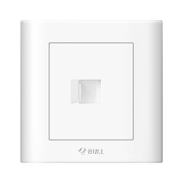 公牛/BULL 开关面板一位电脑插座(打线型/六类)86型白色暗装一位电脑,GN-G32T102B