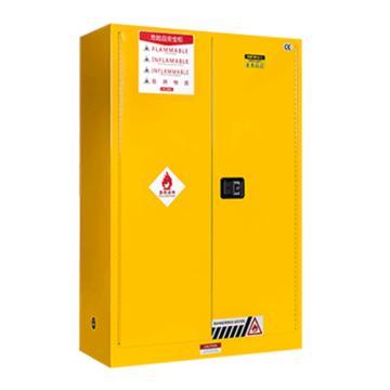 弗莱仕 防火防爆安全柜(黄色,双门/手动,可调层板4块)