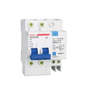 环宇HUANYU DZ47LE系列小型漏电断路器,DZ47LE-63/2P C 40A 30mA过压
