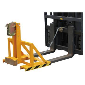虎力 手動液壓油桶搬運夾, 載重:500kg 貨叉叉口150*55mm 兩叉口尺寸外寬750mm,DG500A