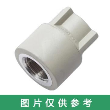 西域推薦 給水用聚丙烯內螺紋異徑直通,PP-R 20×15mm