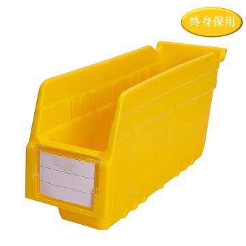 Raxwell 精益零件盒 物料盒,外尺寸規格D*W*H(mm):300×100×150,全新料,黃色,單位:個