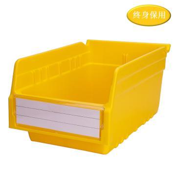 Raxwell 精益零件盒 物料盒,外尺寸规格D*W*H(mm):300×200×150,全新料,黄色,单位:个