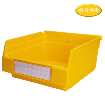 Raxwell 精益零件盒 物料盒,外尺寸规格D*W*H(mm):300×300×150,全新料,黄色,单位:个