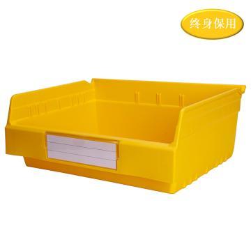 Raxwell 精益零件盒 物料盒,外尺寸规格D*W*H(mm):300×400×150,全新料,黄色,单位:个