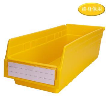 Raxwell 精益零件盒 物料盒,外尺寸規格D*W*H(mm):500×200×150,全新料,黃色,單位:個