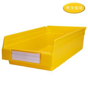 Raxwell 精益零件盒 物料盒,外尺寸规格D*W*H(mm):500×300×150,全新料,黄色,单位:个