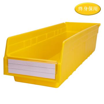 Raxwell 精益零件盒 物料盒,外尺寸規格D*W*H(mm):600×200×150,全新料,黃色,單位:個