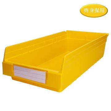 Raxwell 精益零件盒 物料盒,外尺寸規格D*W*H(mm):600×300×150,全新料,黃色,單位:個