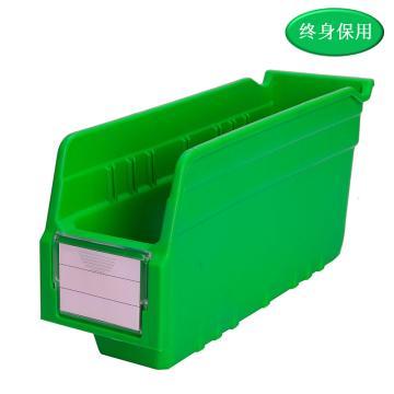 Raxwell 精益零件盒 物料盒,外尺寸規格D*W*H(mm):300×100×150,全新料,綠色,單位:個