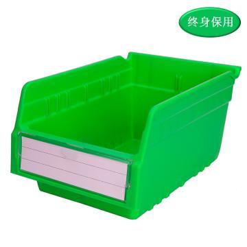 Raxwell 精益零件盒 物料盒,外尺寸規格D*W*H(mm):300×200×150,全新料,綠色,單位:個
