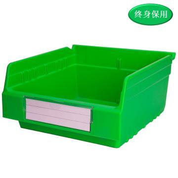 Raxwell 精益零件盒 物料盒,外尺寸规格D*W*H(mm):300×300×150,全新料,绿色,单位:个