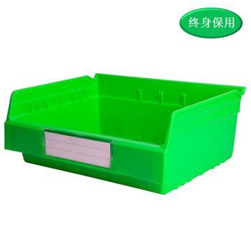 Raxwell 精益零件盒 物料盒,外尺寸规格D*W*H(mm):300×400×150,全新料,绿色,单位:个