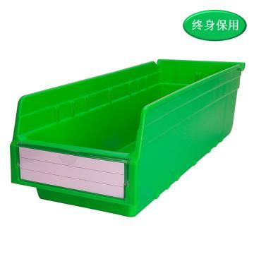 Raxwell 精益零件盒 物料盒,外尺寸规格D*W*H(mm):500×200×150,全新料,绿色,单位:个