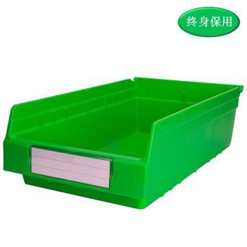 Raxwell 精益零件盒 物料盒,外尺寸规格D*W*H(mm):500×300×150,全新料,绿色,单位:个