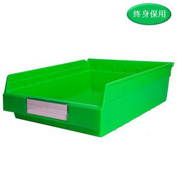 Raxwell 精益零件盒 物料盒,外尺寸规格D*W*H(mm):500×400×150,全新料,绿色,单位:个