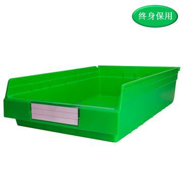 Raxwell 精益零件盒 物料盒,外尺寸规格D*W*H(mm):600×400×150,全新料,绿色,单位:个