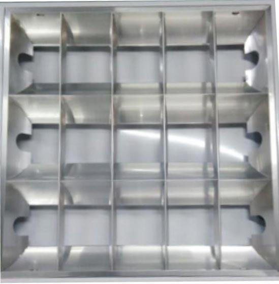 佛山照明 T8 LED格栅空灯盘,598*598,炫丽II代,标准型,适配3根T8双端灯管,不含灯管,单位:个