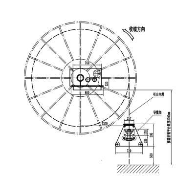 丹东振安 磁滞式电缆卷筒,CZ-1250-I