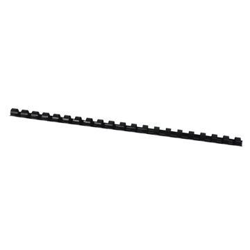 优玛仕 12mm 21孔装订胶圈 黑色 100个/盒