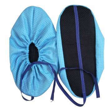 科来圣防静电鞋套,带导电条 均码(37-44尺码) 无尘车间加厚布鞋套实验室防尘防滑