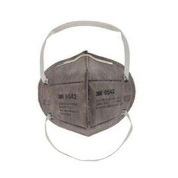 3M 防塵及有機氣體口罩,9542,KN95 折疊式活性炭口罩 頭帶式 9042升級款,25個/盒
