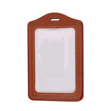 国产 仿皮胸卡套 竖式 7.3*10cm 厚 棕色