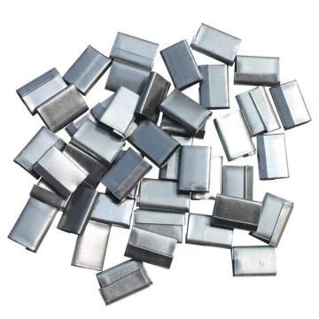 Raxwell PP手工帶打包扣,不銹鋼鍍鋅,寬度:18mm,長度:38mm,高度:5mm,25kg/箱