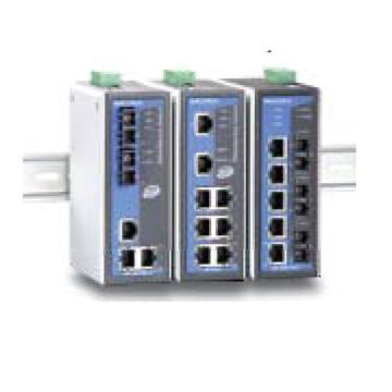 摩莎Moxa 8口管理型百兆工业以太网交换机含两个多模光口,EDS-408A-MM-ST