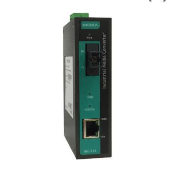 摩莎Moxa 工業級10/100BaseT(X)轉100BaseFX光電轉換器,IMC-21A-M-ST