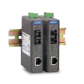 摩莎Moxa 入门级10/100BaseT(X)转100BaseFX光电转换器,IMC-21-M-ST