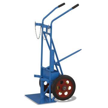 Raxwell 双气瓶三轮推车,适用气瓶直径范围:210-250mm(气瓶容积40/50L),RMCG0004