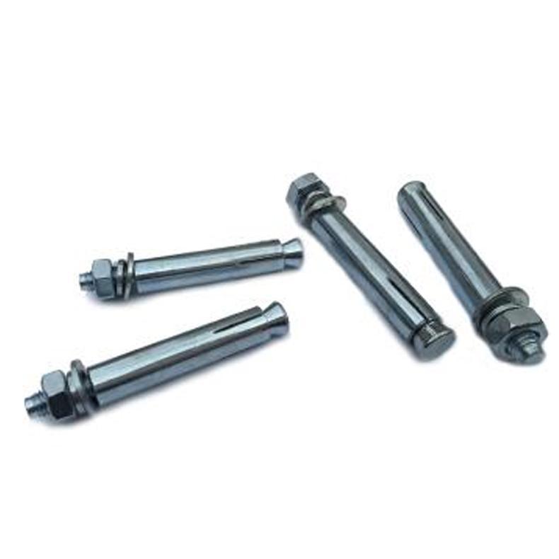 Raxwell JB/ZQ4763普通碳钢膨胀锚栓,蓝白锌,M8*200,45个/袋
