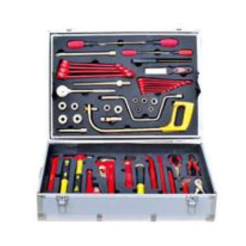 渤防 防爆检维修专用组合工具箱,1390-001 50件套 铝青铜