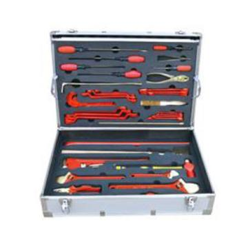 渤防 防爆油库专用组合工具箱,1400-001 36件套 铝青铜