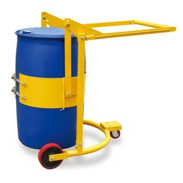 Raxwell 360Kg油桶搬運車(帶鎖緊機構),適用55Gal鋼制&塑料油桶(Φ572*900)搬運翻轉操作,RHMC0055