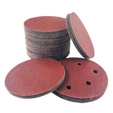 力得士 植绒砂轮片,直径125,P80 大 无孔,100片/盒