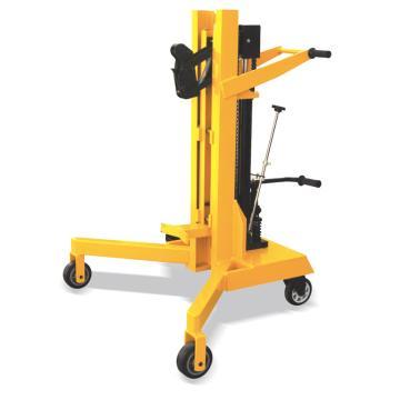 Raxwell 450Kg直角支腿高起升油桶搬运车(液压起升),支腿端宽度1020mm最大起升高度500mm,RHMC0058