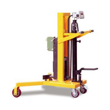 Raxwell 450Kg重型油桶稱重車,直角支腿前輪架內寬920mm 提升行程600mm 稱重精度±3%,RHMC0062