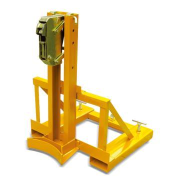 Raxwell 360Kg油桶搬運夾(夾扣式),單桶(叉車專用) 高度可調,RMCM0003