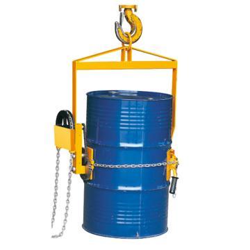 Raxwell 365Kg齿轮型油桶垂直吊运/倾倒夹(适于55Gallon钢桶与葫芦或行车配合使用),RMCO0009