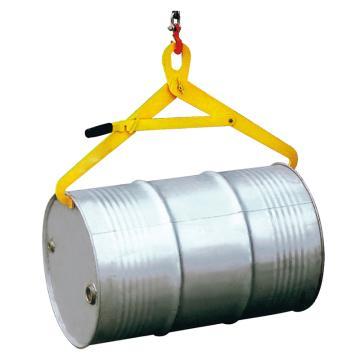 Raxwell 500Kg油桶起吊夾(起吊橫桶,帶鎖扣),適用于210升/55加倫鋼桶,RMCO0007