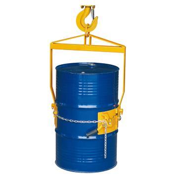 Raxwell 365Kg手扳型油桶垂直吊運/傾倒夾(適于55Gallon鋼桶 與葫蘆或行車配合使用),RMCO0008