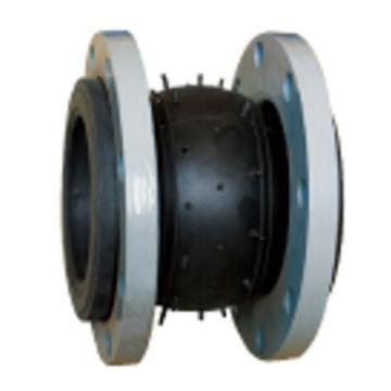 西域推荐 橡胶软接头,铸钢法兰 JGD41-16,DN80,含法兰螺栓垫片(其中法兰2片,金属垫片2片,螺栓16个)