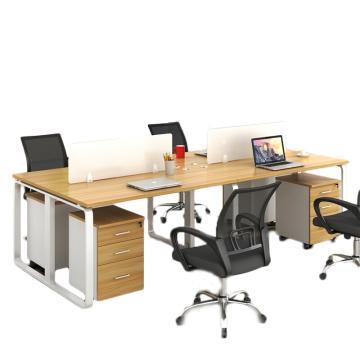 臻遠 辦公桌屏風桌員工四人位辦公單人位(含柜椅),2400*1200*750